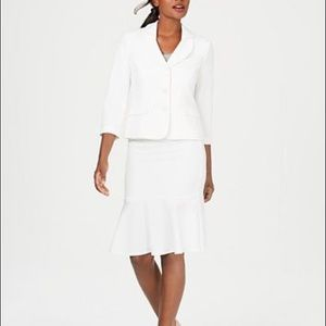 Le Suit Three-Button Crepe Skirt Suit from Macy's